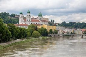 summer view of Old Town at Danube river, Germany, Passau