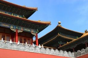 Roof of Chinas Forbidden City