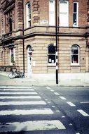 Zebra crossing road in city
