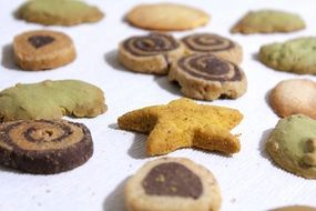 different types of cookies on the table
