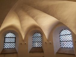 arched ceiling in the church of Jesus