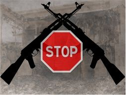"banner ""stop weapon"""
