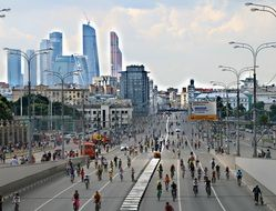 wide avenue in Moscow
