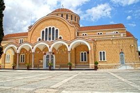 Saint George Church, facade, cyprus, Paralimni