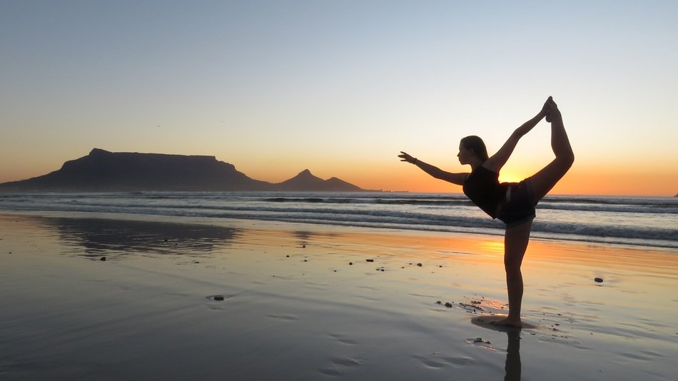 Yoga Girl sunset