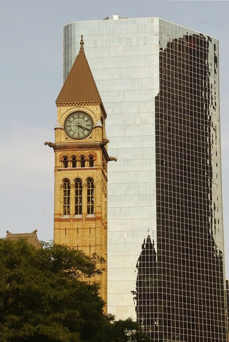 clock tower in downtown toronto