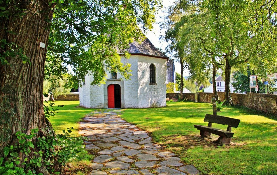 small Chapel in park at summer, germany, eifel