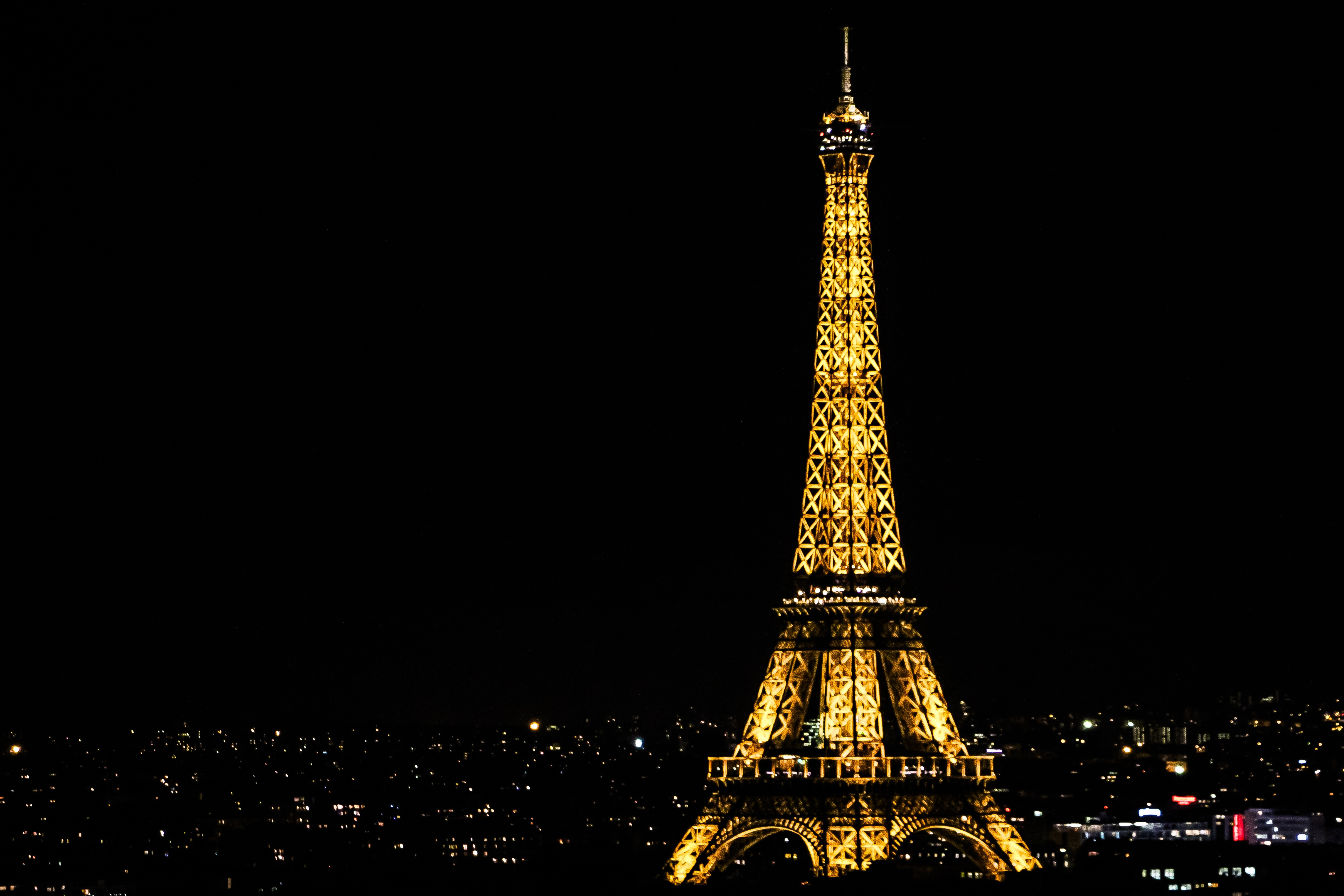 Eiffel Tower At Night In France Free Image Download