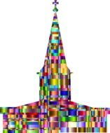 colorful abstract church