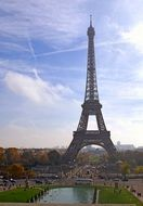 Eiffel Tower steel construction panorama