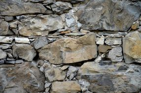 natural stone wall with different sizes of stones