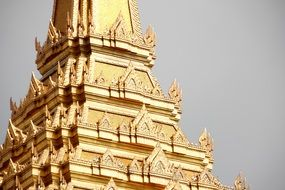 historic golden temple in Thailand