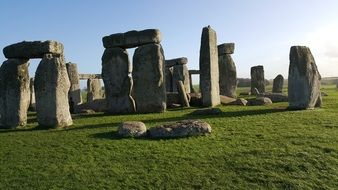 Stonenenge in England under the protection of UNESCO