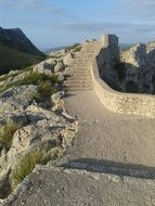 stone stairs in majorca