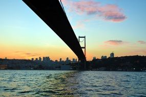 bridge over the river in istanbul