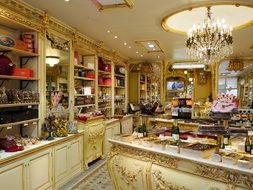interior of a candy store on the Cote d'Azur