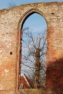 arched window in the wall