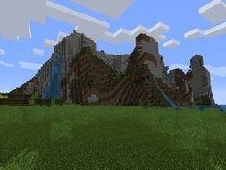 mountains in the computer game Minecraft