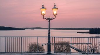 lantern on a lake in the wannsee area