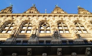 Facade of the town hall in Hamburg