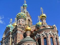 beautiful religion cathedral in Russia