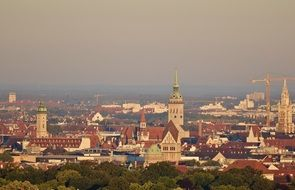 View of the capital of Bavaria