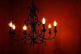 vintage chandelier in a haunted house