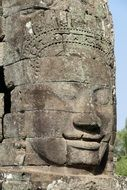 Cambodia Angkor stone relief monument