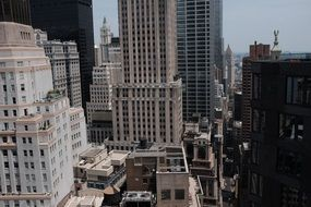 Manhattan buildings top view