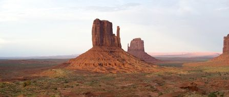 rock formations of the monument valley