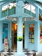 Haight Ashbury is the intersection of Haight and Ashbury streets