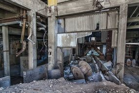 Abandoned Factory destruction