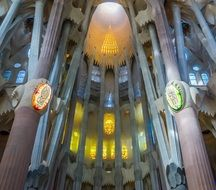 sagrada familia cathedral view inside