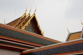 beautiful temple roof in Thailand