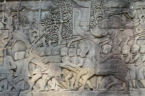 Angkor Wat stone relief