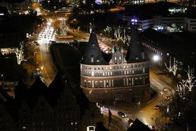 Holsten gate - the medieval city gate of Lubeck