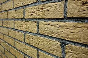 texture of the yellow brick wall