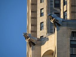 Gargoyles on the building