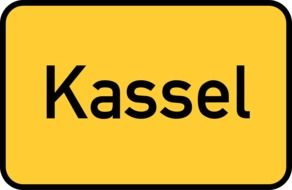 Kassel Town Sign