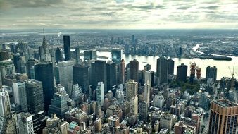 breathtaking view of Manhattan from a bird\'s eye view