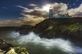 scenic lighthouse in Ireland