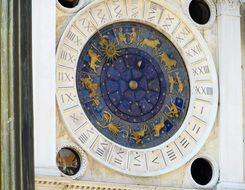 ancient historical clock in venice