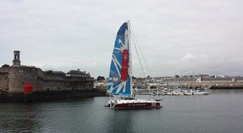 sailing boat on the water, finistere, concarneau