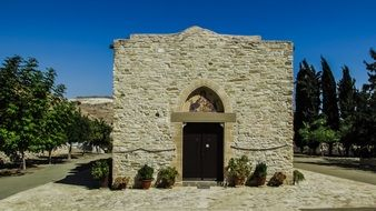 stone building of the byzantine monastery
