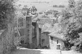 traditional rural architecture in the south of france