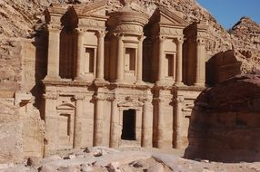 Petra as a famous archaeological site