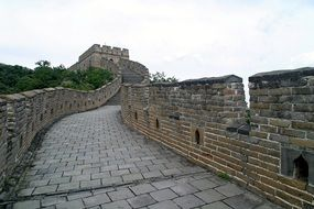 Chinese great large wall attraction
