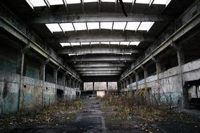 Factory Abandoned Hall Old