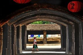 Landscape of The Ancient Town in Vietnam