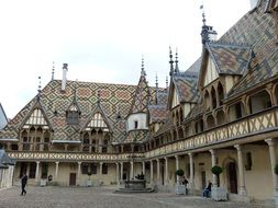 building of middle ages in Beaune